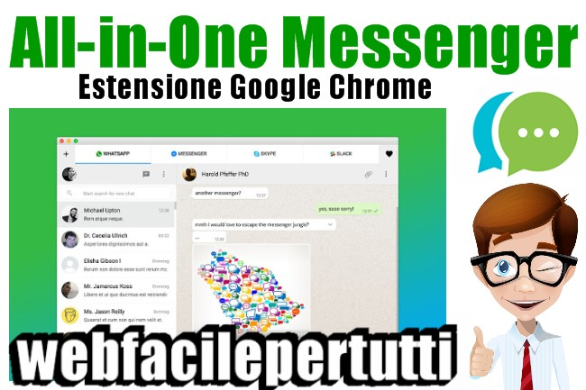 All-in-One Messenger - Estensione Per Google Chrome Che Permette Di Gestire 27 App Di Messaggistica Contemporaneamente