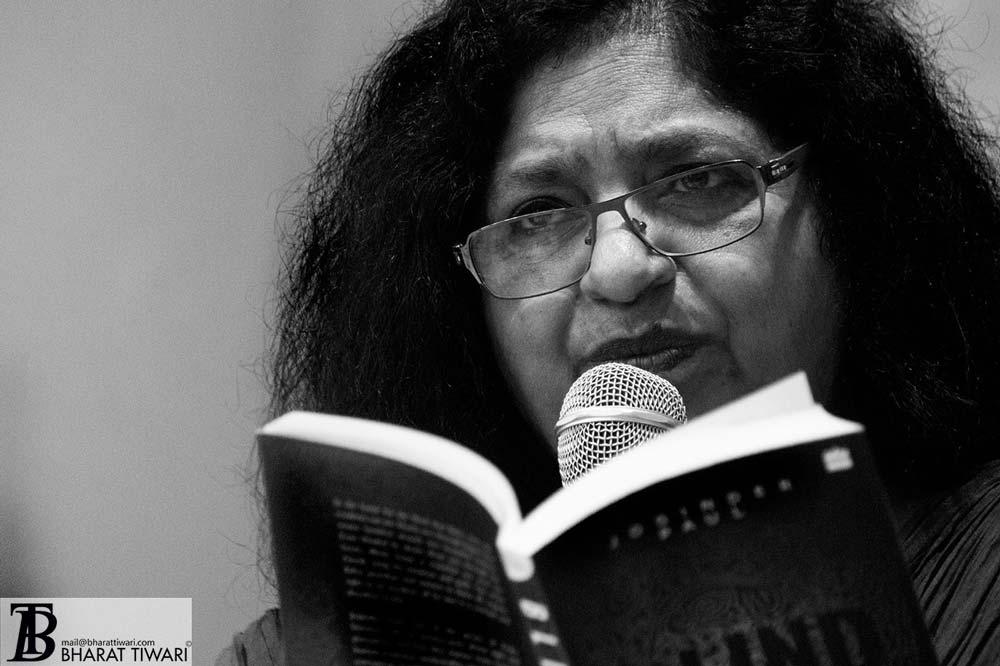 Sukrita Paul Kumar at the launch of Translating Bharat, Reading India at oxford book store