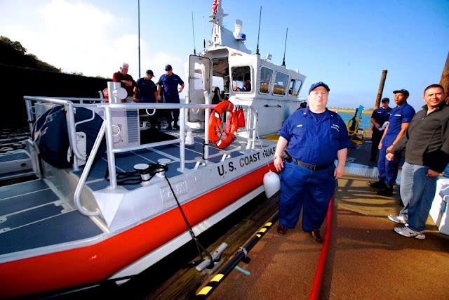 FL-16-07 member Bob Daraio at Coast Guard Starion Eatons Neck