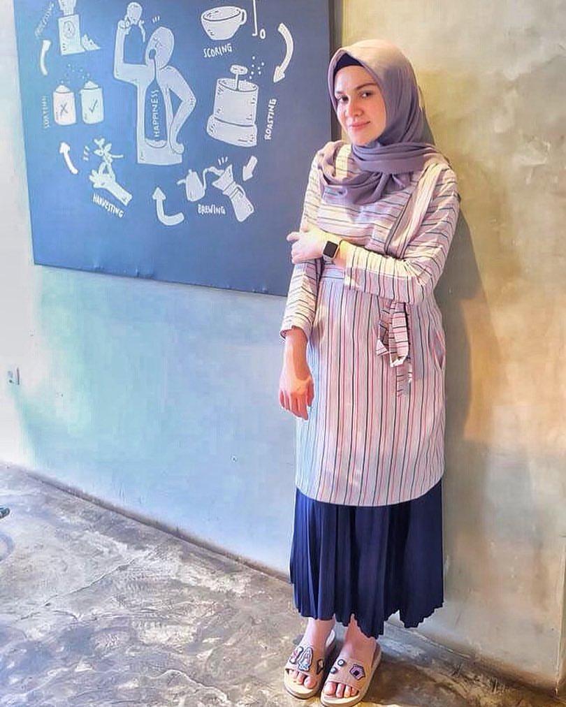 Michella Adlen pensiun sebagai artis FTV dan kini pakai Hijab