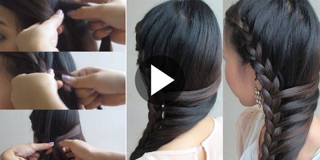 How To Create Side-Swept Mermaid Braid Hairstyle, See Tutorial