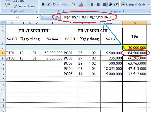 Một số cách ẩn hiện thị giá trị bằng 0 trong bảng tính Excel