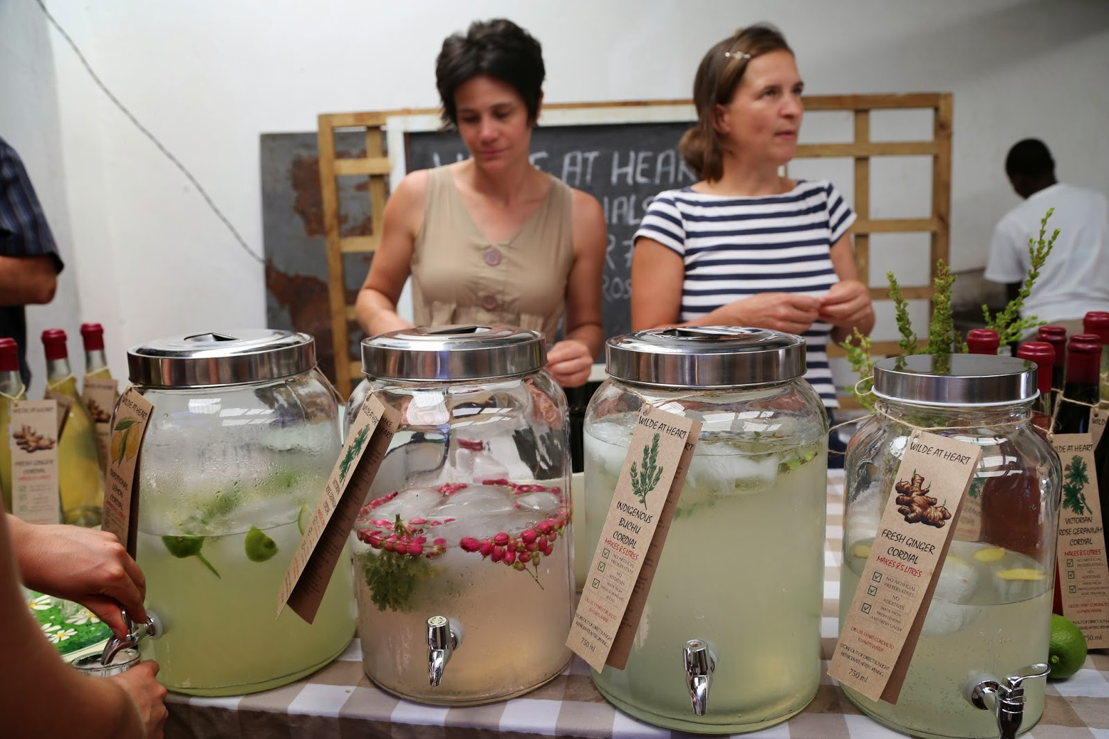 Cordials by Wilde at Heart, Old Biscuit Mill, Cape Town (including Buchu, a local mint-like herb)