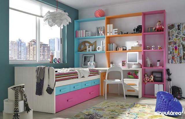 Habitaci n infantil sin armario 934 - Dormitorios infantiles valencia ...