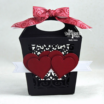 Our Daily Bread Designs Custom Dies: Glorious Gable Box, Layering Hearts, Pennant Flags
