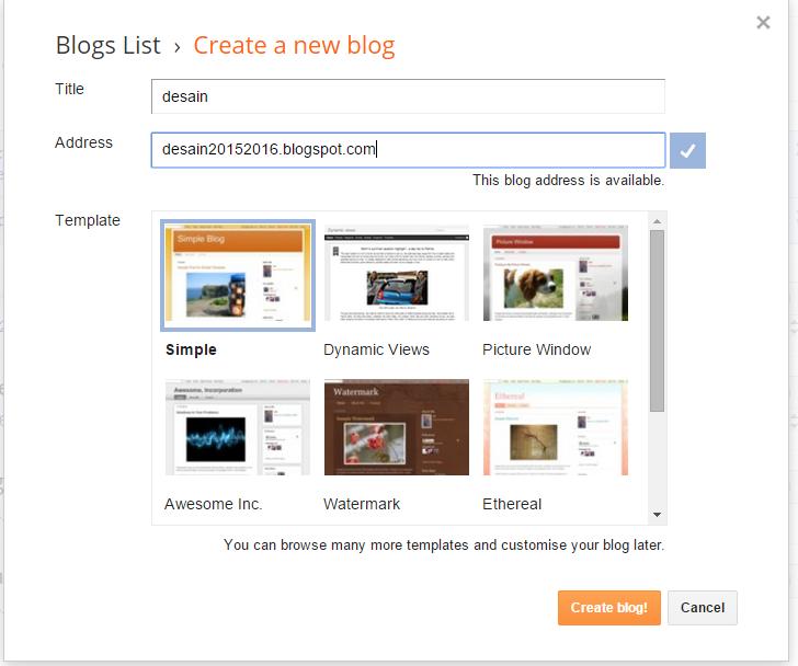 Cara Membuat blog sendiri