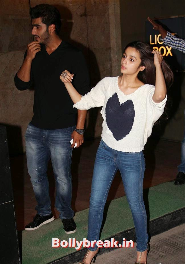 Arjun Kapoor and Alia Bhatt, Alia Bhatt, Sonakshi Sinha at Special Screening of 2 States