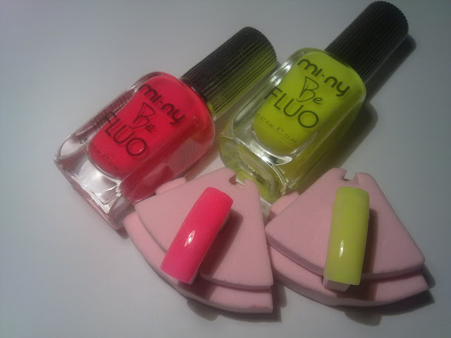 swatches be fluo yellow and pink mi-ny