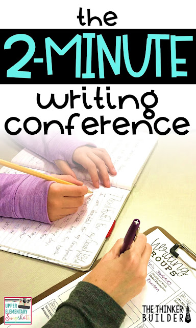 Writing conferences with your student writers need to be short. Otherwise, how will you meet with everyone consistently? But they also need to be meaningful. Learn how to hold practical, effective TWO-minute writing conferences.