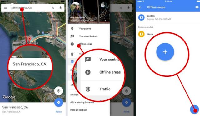 طريقة استخدام خرائط جوجل دون اتصال بالانترنت | ترينداتي