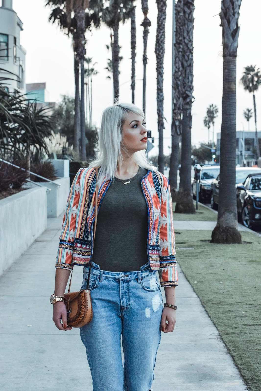 how to wear a colorful jacket