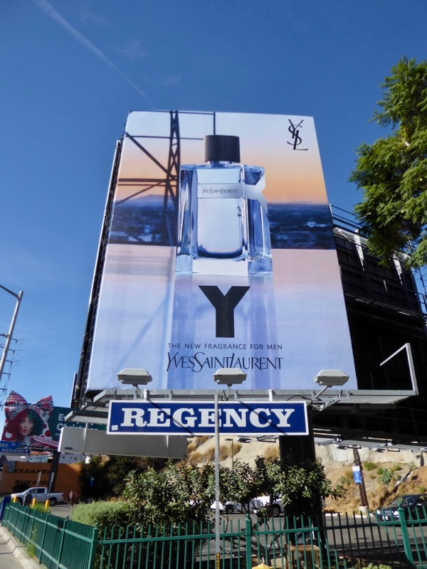 Y Yves Saint Laurent fragrance billboard