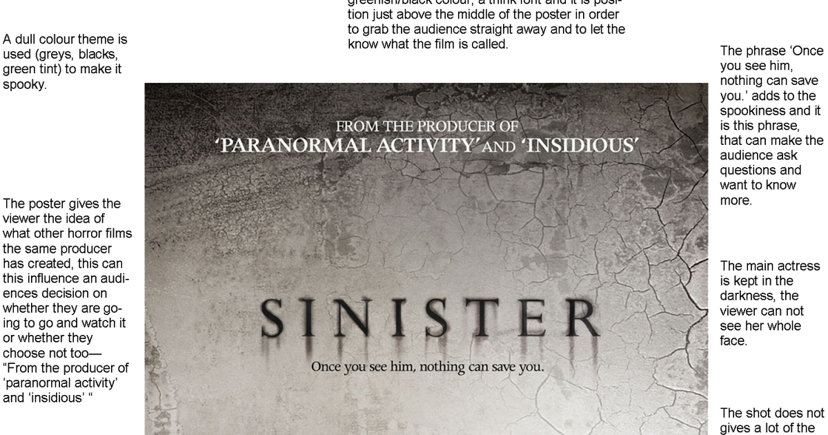 Sinister Movie Poster Analysis