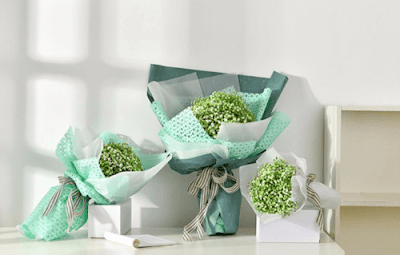 Kertas Buket Bunga / Flower Bouquet Wrapping Paper (Seri LY)