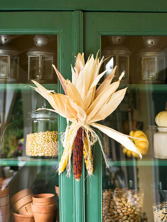 Fall Decorating With Natural Elements Dried Corn Yellow