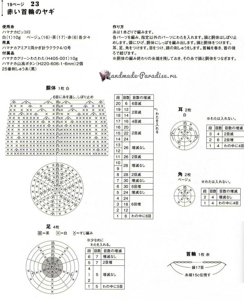 Схемы вязания крючком козлика (1)