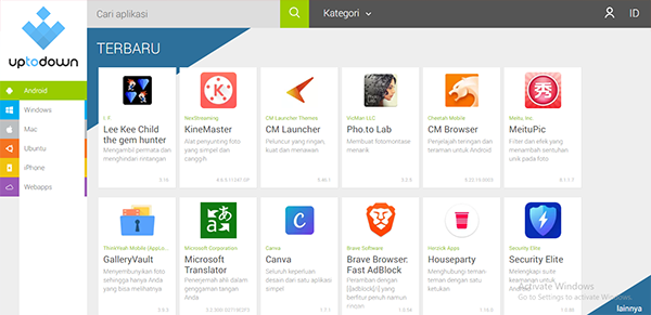uptodown, situs yang cukup tenar dan tertua dalam dunia download aplikasi