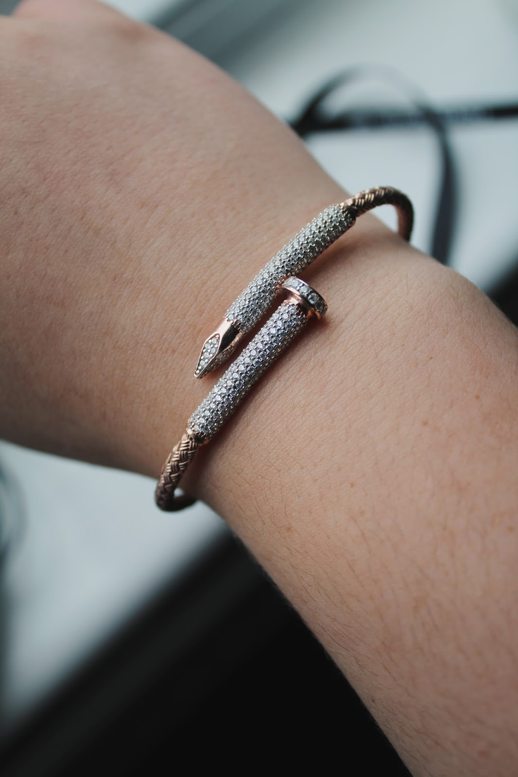 stud and nail bracelet