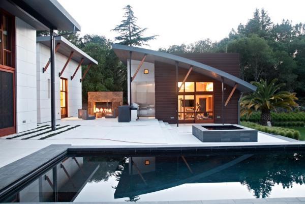 บ้าน 2 ชั้น Modern Creek House Style ด้านหน้า