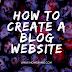 How to create a blog website