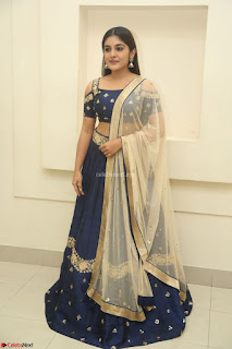 Niveda Thomas in Lovely Blue Cold Shoulder Ghagra Choli Transparent Chunni ~ Exclusive Celebrities Galleries 007