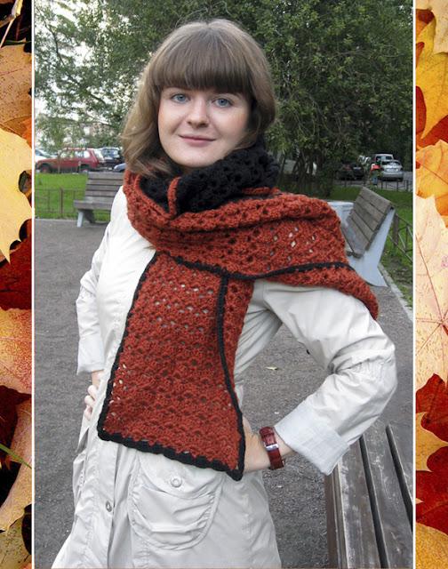 шарф ручной работы