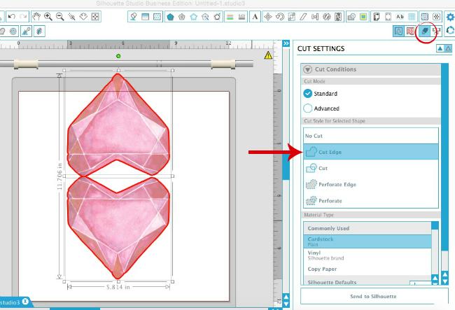 Silhouette Studio, Silhouette tutorial, Silhouette Cameo, print and cut, designing, cut edge