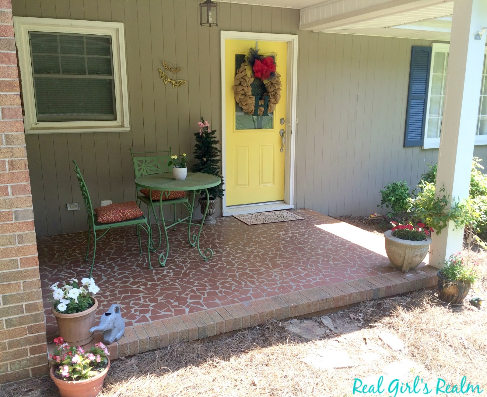 Our Front Porch Is Small And Only Has Room For A Bistro Set Which Why We Do Not Sit Out There Very Often Since People See It From The Road