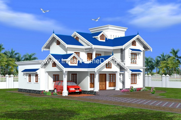 5 bhk villas exterior design for your 3450 sq ft home for Indian villa designs exterior photos