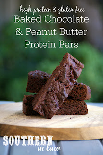Gluten Free Baked Chocolate Peanut Butter Protein Bars Recipe