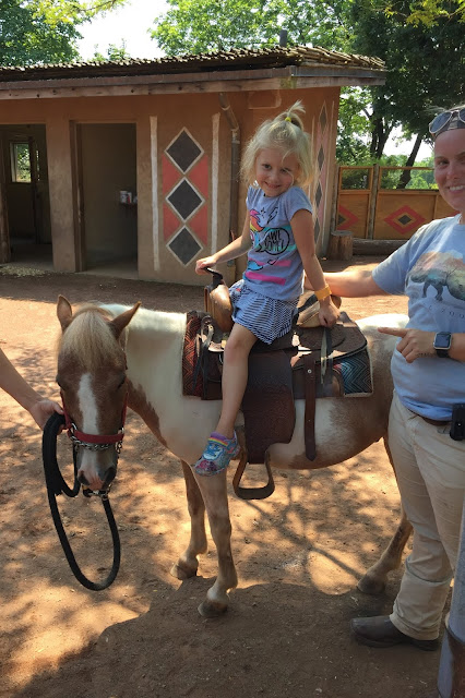 Stella on a Pony at the Louisville Zoo
