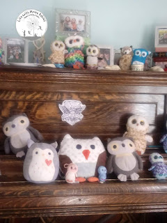Set up your own Owl Post with stuffed owls.
