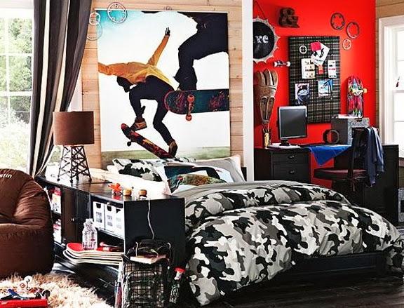 Dormitorio temática skateboarding
