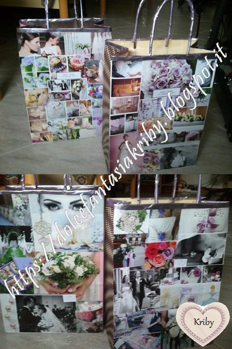 wedding bags fai da te. decorazioni handmade personalizzate
