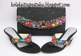 High heels Tas Pesta Sepatu Pesta Cantik Handmade Solo
