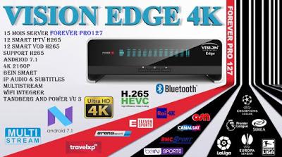 اخر تحديث لجهاز VISION EDGE 4K وتعديل في خصاية تايم شيفت واضافة تطبيق نيتفلكس