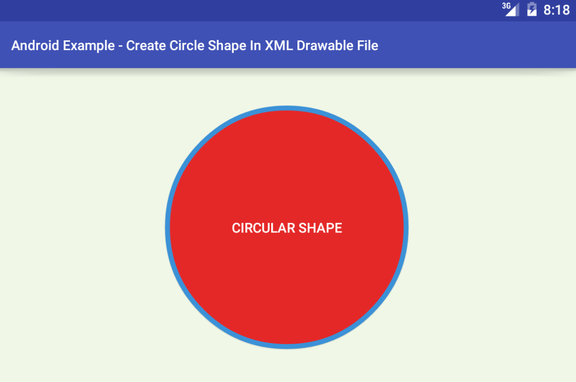 android - Circle shape in XML drawable file