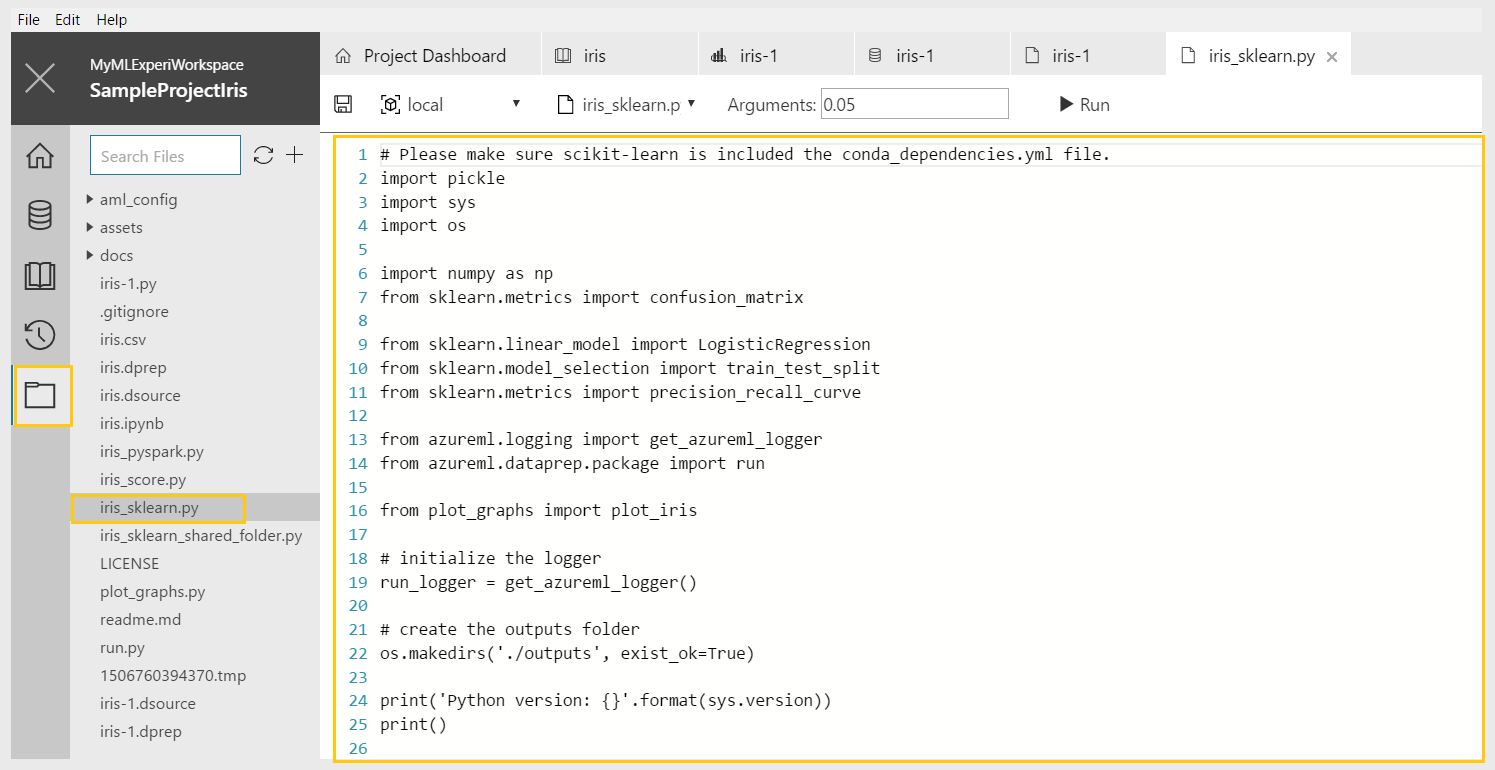 Getting Started With Azure Machine Learning Workbench - II