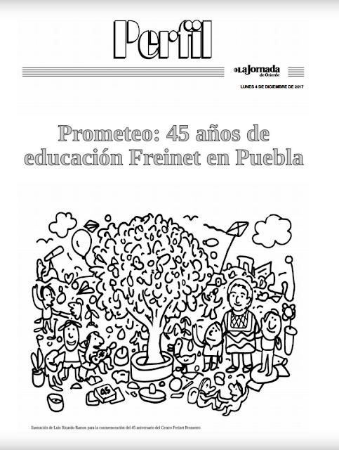 Descarga la Edición Especial de Perfil del 45 aniversario del Prometeo. Escuela Freinet en Puebla.