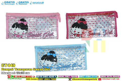 Dompet Transparan Sweet Girl
