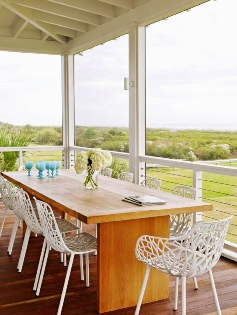 coral dining chairs outdoors
