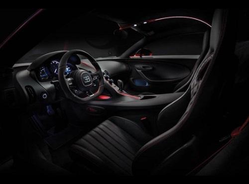 Interior design Bugatti Chiron