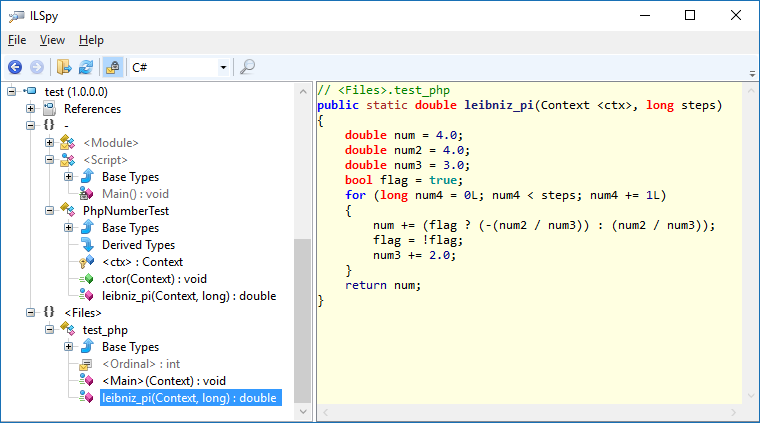 Decompiled C# Code