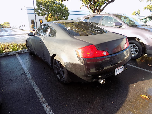 Infiniti G35 Coupe before getting repainted at Almost Everything Auto Body.