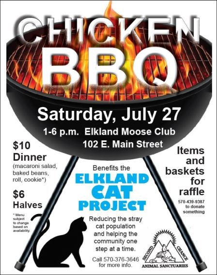 7-27 Chicken BBQ Elkland Moose Club