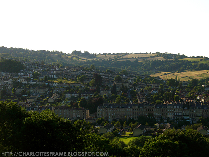 Skyline CItyview of Bath, UK, United Kingdom