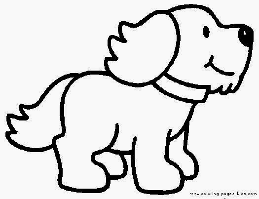 simple dog cat coloring pages - photo #12