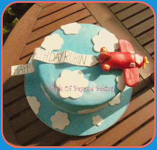 Chocolate airplan birthday cake