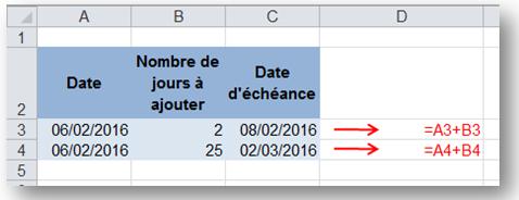sb astuces - Excel - ajouter des jours à une date