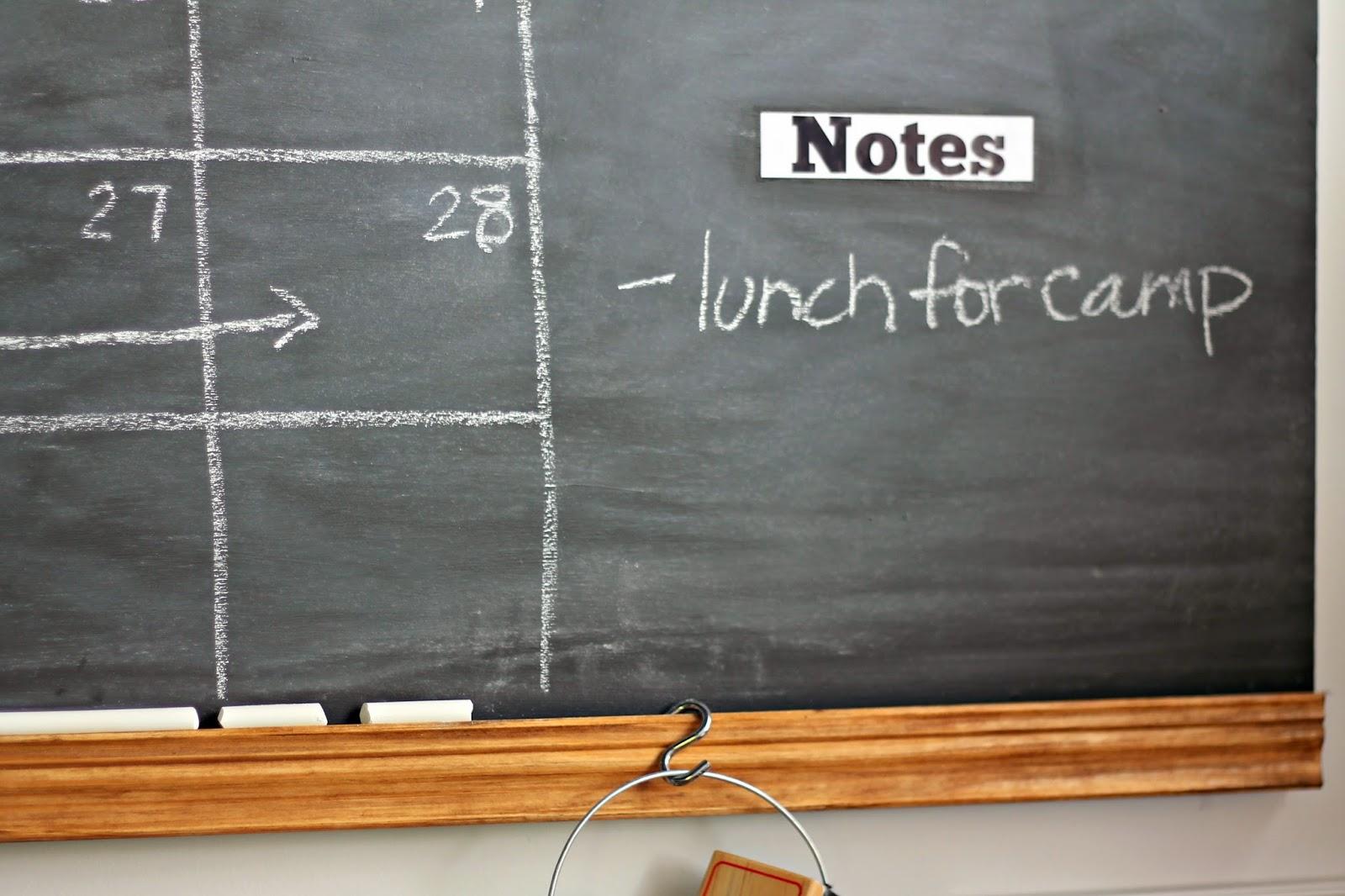 making a chalkboard calendar
